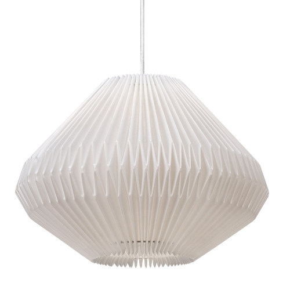 h ngelampe mit origami lampenschirm. Black Bedroom Furniture Sets. Home Design Ideas