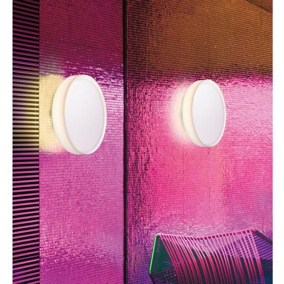 mint runde deckenleuchte opalglas und kunststoff. Black Bedroom Furniture Sets. Home Design Ideas