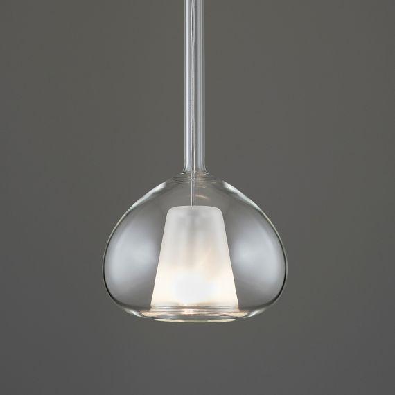 Beba italienische 3er glas pendellampe kaskade for Design couchtisch satiniertes glas
