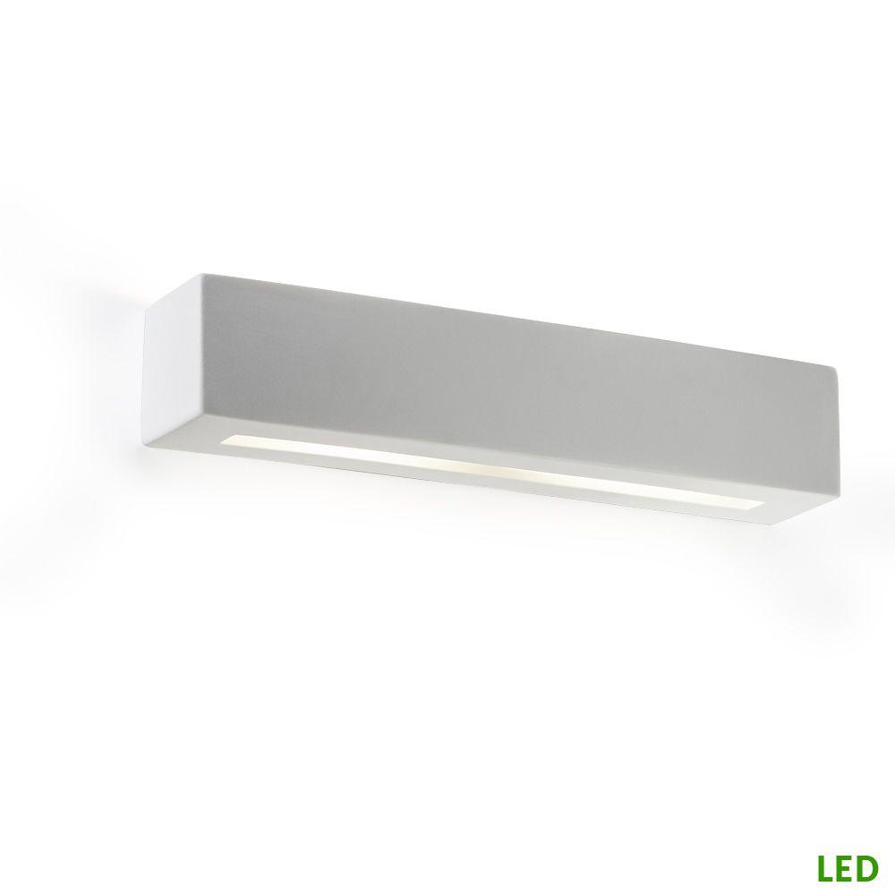 l ngliche led wandlampe schlicht wei und g nstig. Black Bedroom Furniture Sets. Home Design Ideas