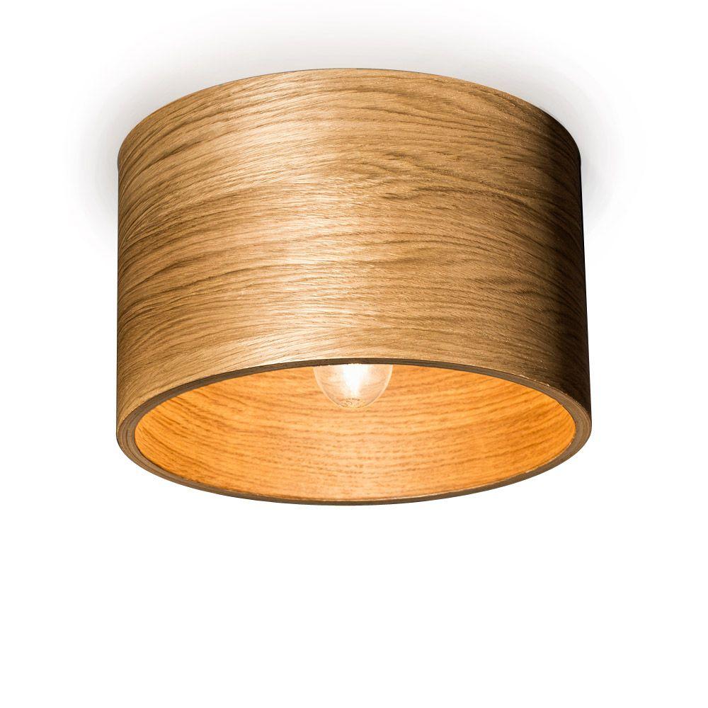 Moderne deckenlampe aus eichenholz e27 fassung for Holz deckenleuchte
