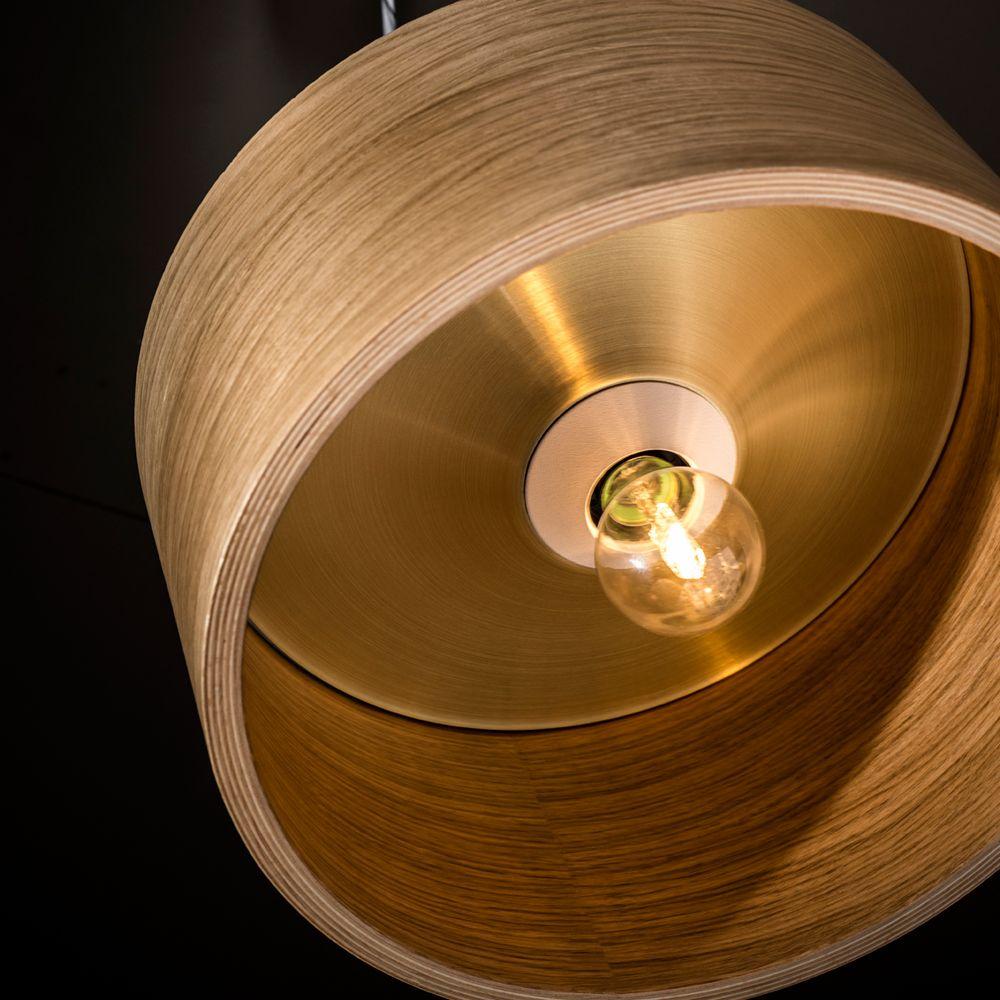 moderne deckenlampe aus eichenholz e27 fassung. Black Bedroom Furniture Sets. Home Design Ideas