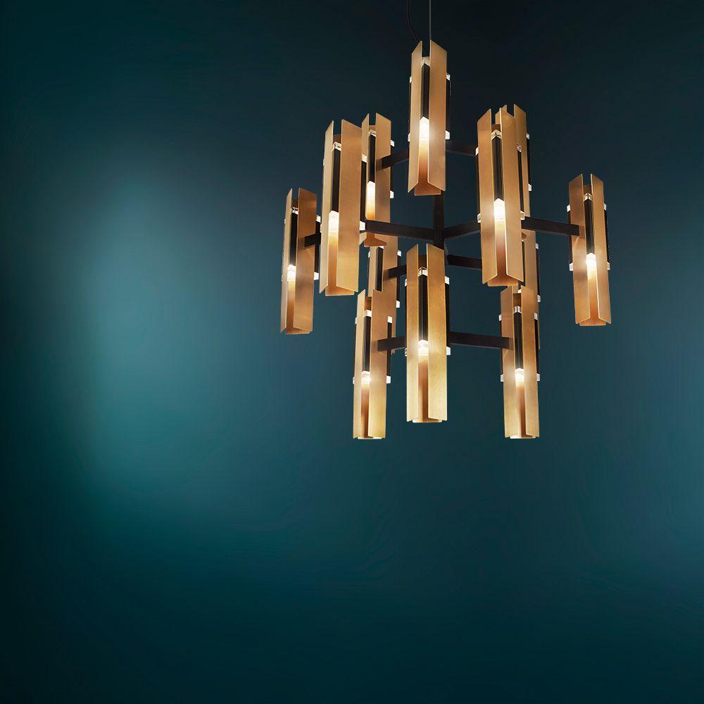 Moderner design kronleuchter 12 flammig for Exklusive pendelleuchten