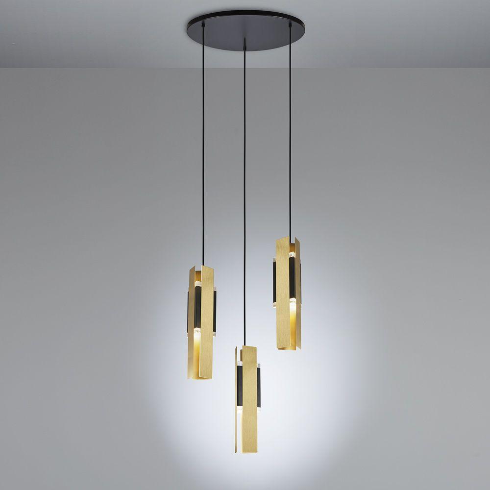 Design kaskaden lampe mit messing aus italien for Exklusive pendelleuchten
