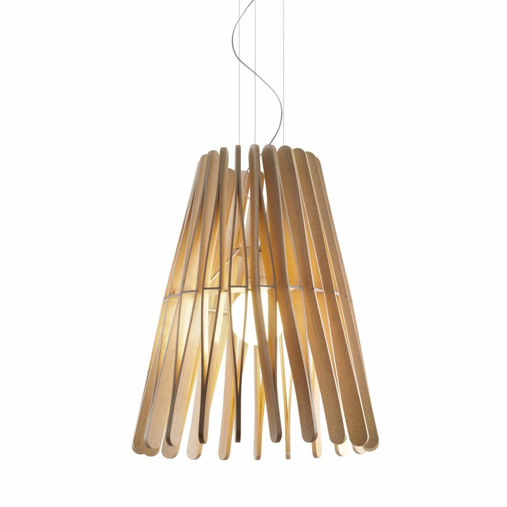 Wärme Und Natürlichkeit: Grosse Design Hängeleuchte Holz