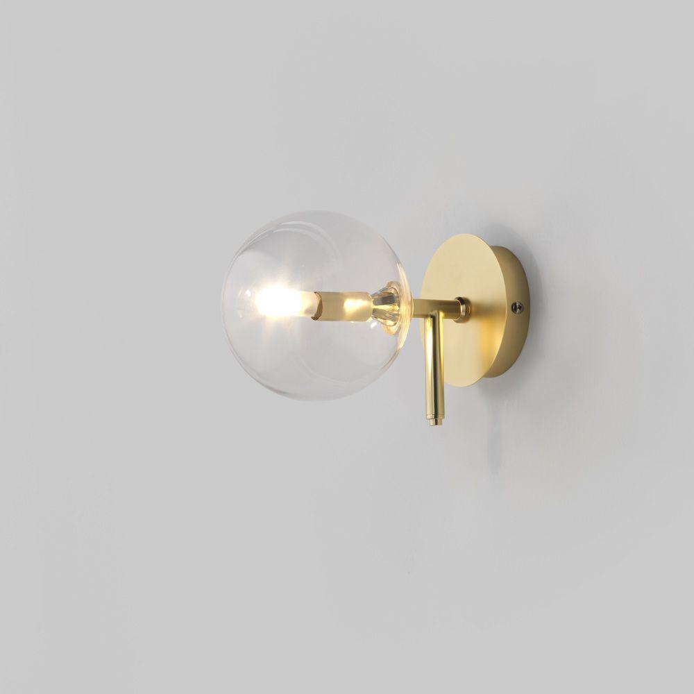 Minimalistische Design Wandleuchte mit geblasener Kugelglas und Schalt