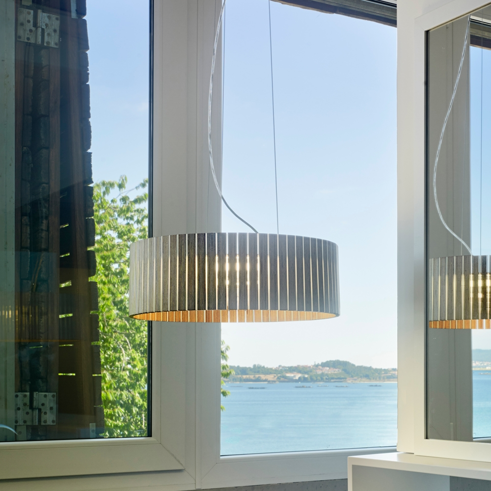 City Elsässer Licht Und Wohndesign: SHIO Runde Pendelleuchte Aus Multiplex Holz