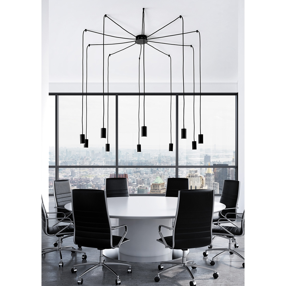 Damocle lampenpendel mit 10 lampen artylux online shop for Exklusive lampen hersteller