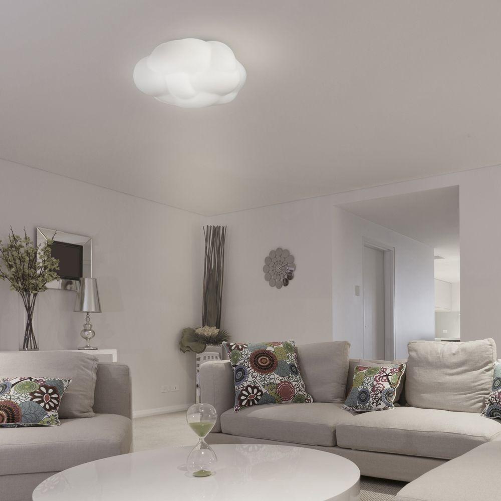 cloud wolkige deckenleuchte aus glas. Black Bedroom Furniture Sets. Home Design Ideas