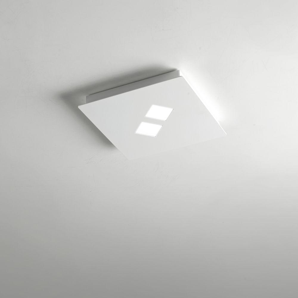 Plano Sehr Flache Quadratische Deckenlampe Mit Led Technik