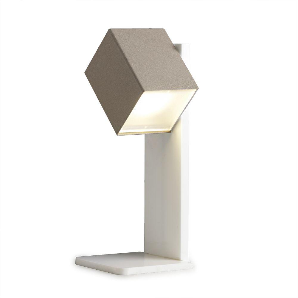 cubis tischlampe mit schwenkbarer led lichtquelle. Black Bedroom Furniture Sets. Home Design Ideas