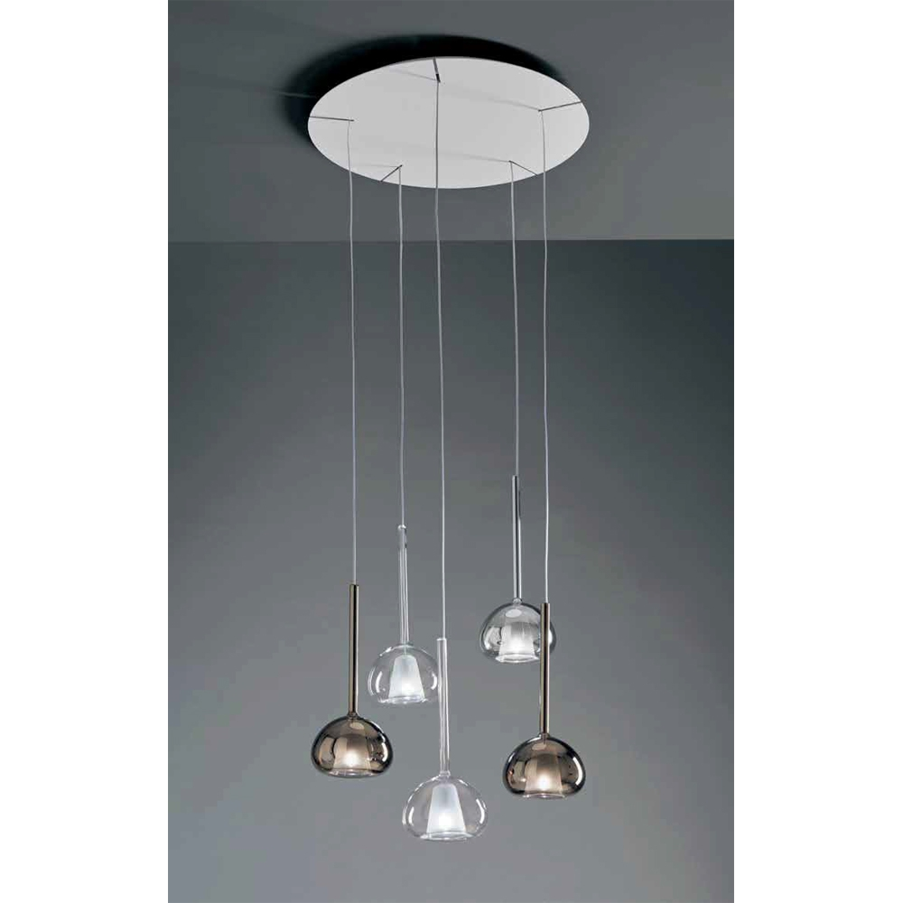 BEBA italienische 5er Glas-Pendellampe Kaskade - ARTYLUX Online-Shop ...