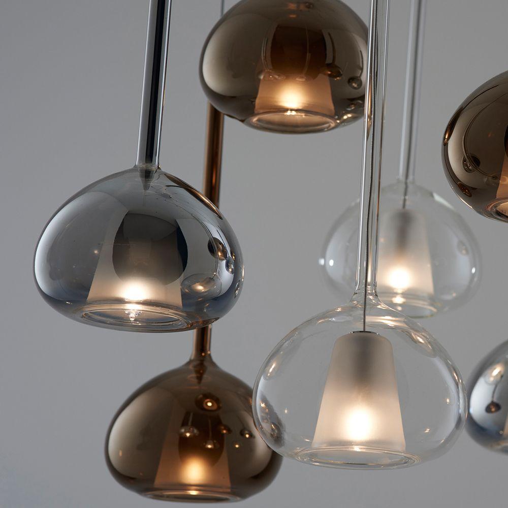 beba italienische 3er glas pendellampe kaskade. Black Bedroom Furniture Sets. Home Design Ideas