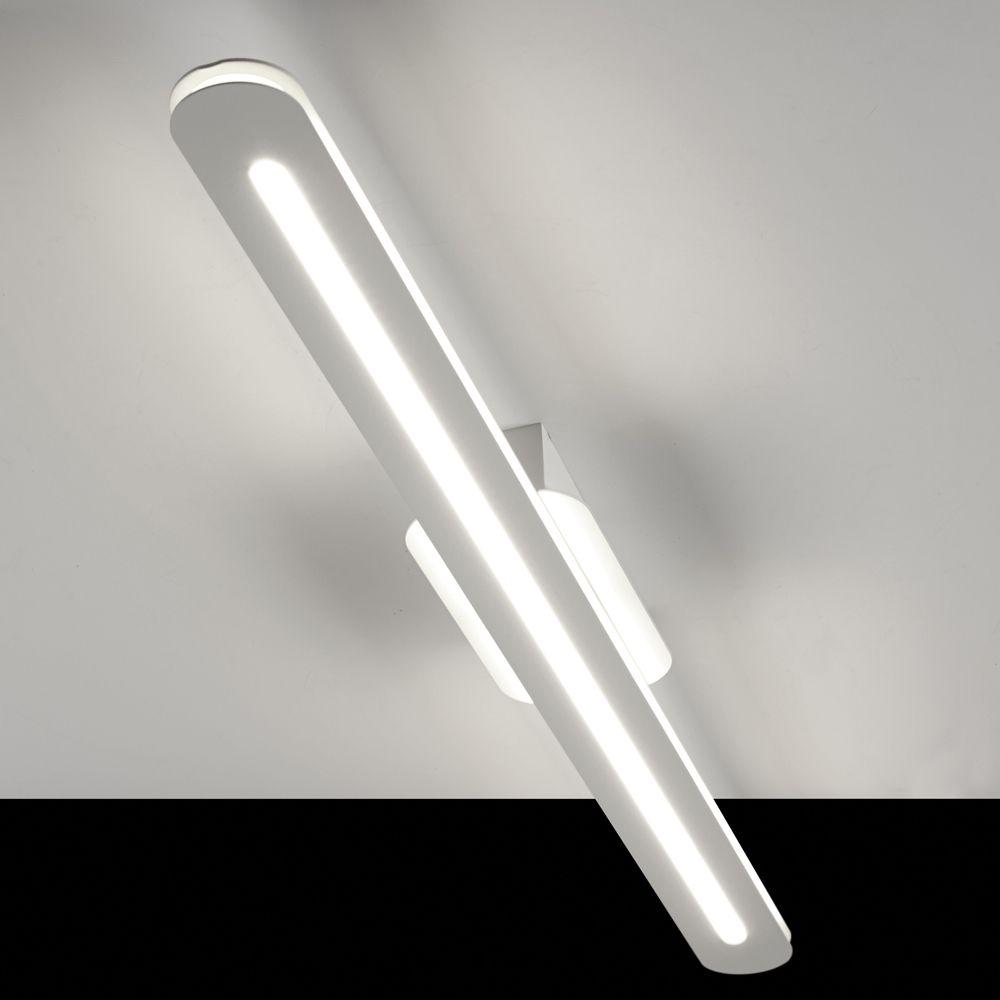 HUBER LED Wand Und Deckenleuchte Weiß, Quadratisch, 18 W