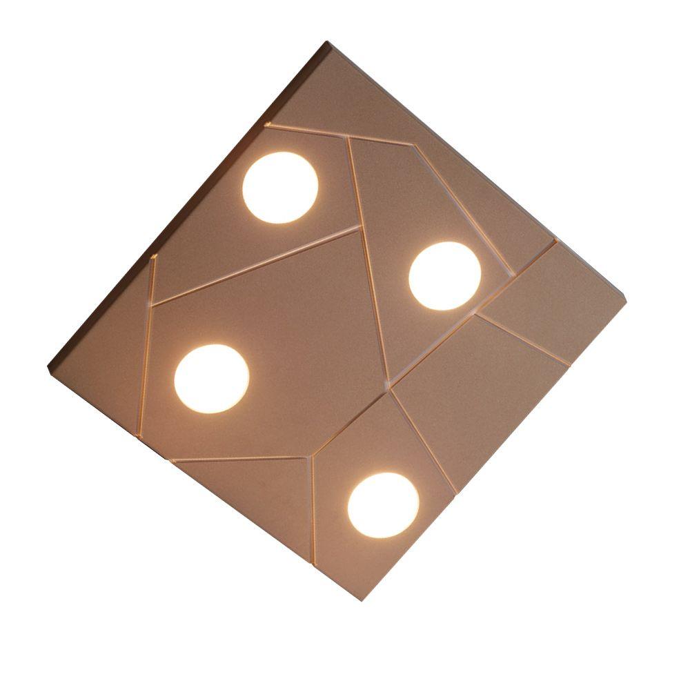 Street sehr flache quadratische deckenlampe for Flache deckenlampe