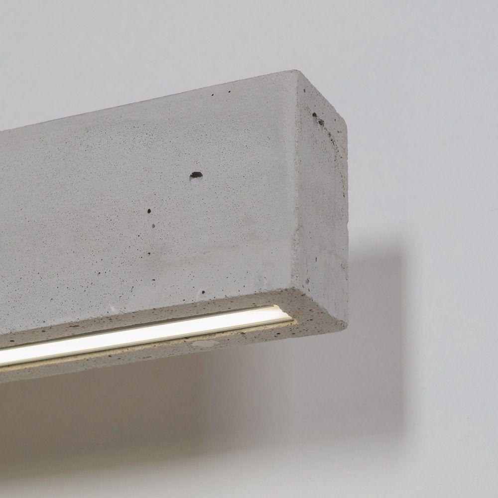 Sichtbeton Detail lange beton wandleuchte mit led artylux shop für designleuchten aus europa