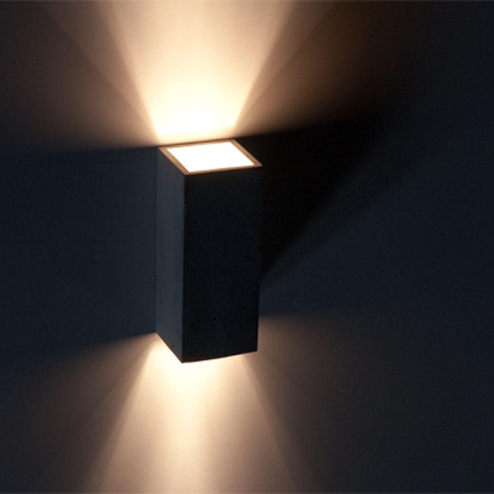 ortho zweiflammige betonwandleuchte. Black Bedroom Furniture Sets. Home Design Ideas