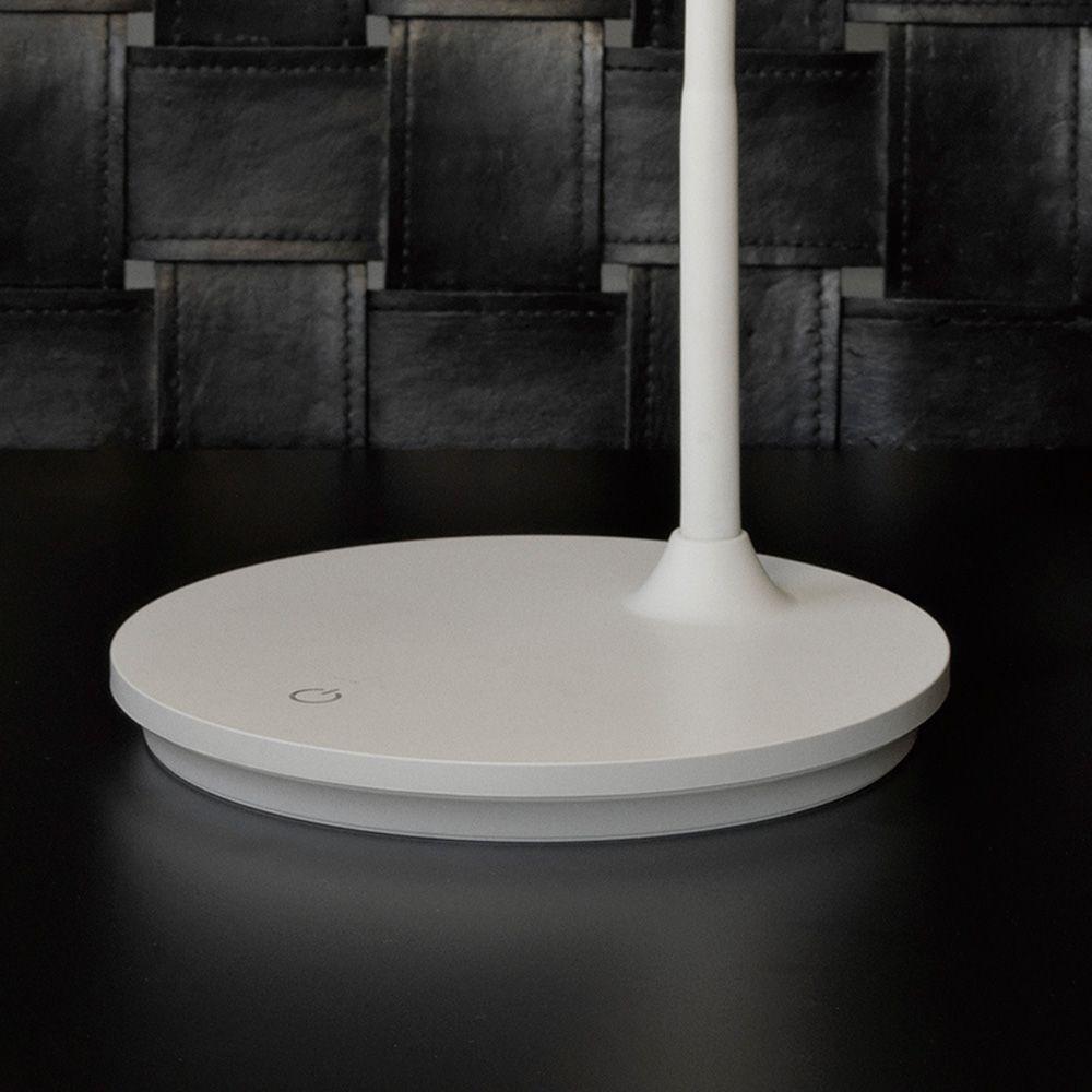 SCREEN weiße Schreibtischleuchte mit LED