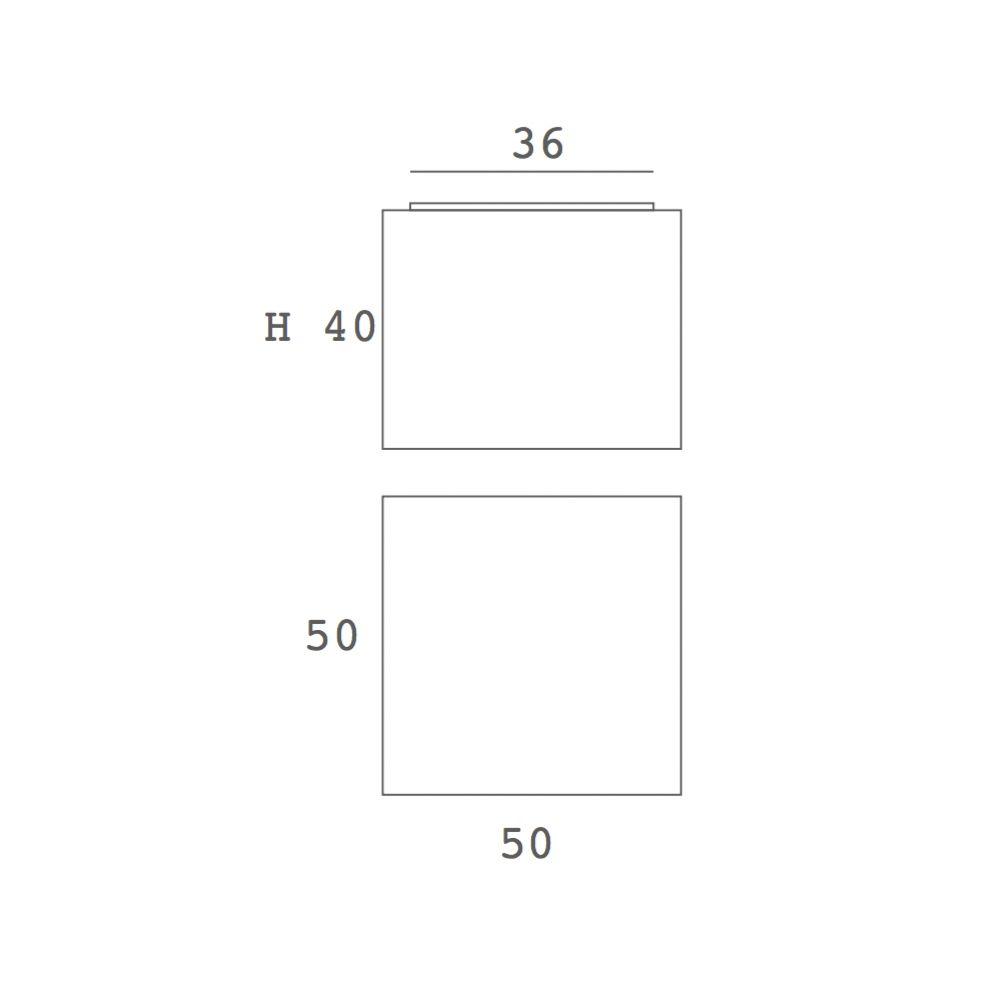 BLOCK quaderförmige LED Deckenleuchte weißer Stoff - ARTYLUX Online ...