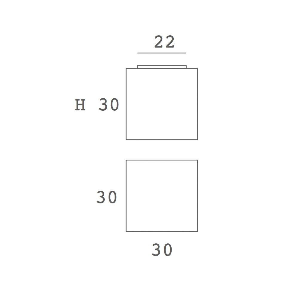 BLOCK quadratische LED Deckenleuchte weißer Stoff - ARTYLUX Online ...