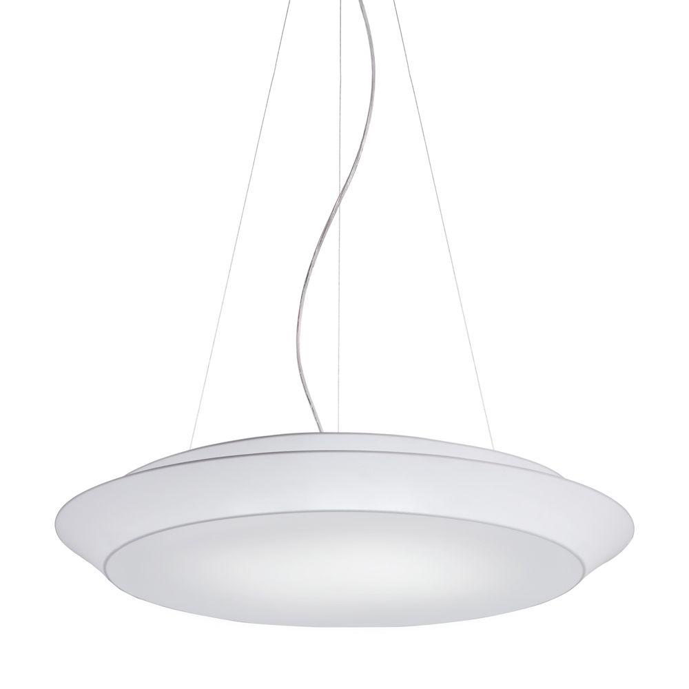 Große runde Pendelleuchte weißer Stoff - ARTYLUX Online-Shop für ...