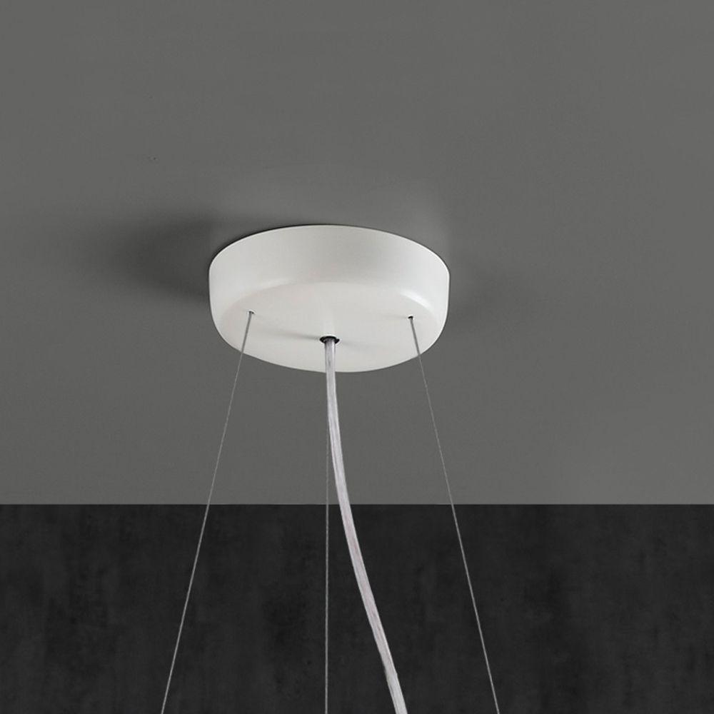 gro e runde pendelleuchte wei er stoff. Black Bedroom Furniture Sets. Home Design Ideas
